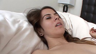 Two girls are showing love on the bed and they are licking pussy