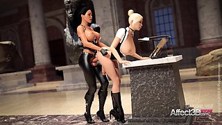 3d animation lesbians having futa sex in a musemum in hd