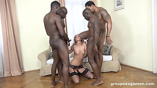 Black hunks fuck this wife and leave her exhausted