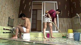 Incredible Japanese slut in Amazing Big Tits, Shower JAV scene