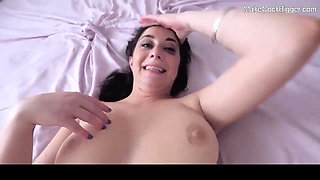 Hot busty MILF loves big cock in her tight pussy. Cute slut