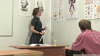 RUSSIAN MATURE TEACHER IN STOCKINGS