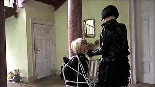 Latex bondage fetish