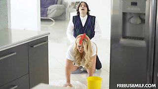 Dad And Son Have Complete Free Use Of Stepmom Karen
