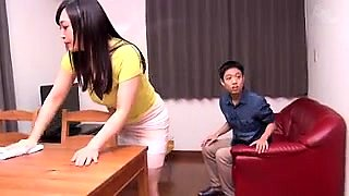 Luscious Japanese housewives getting fucked by young studs