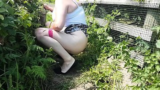 Peeing in public sexy ass