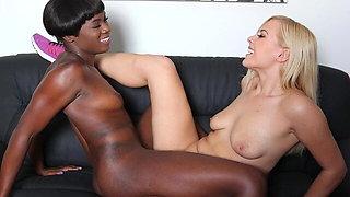 Teen Summer Day Gets Seduced by Her Ebony Gym Partner