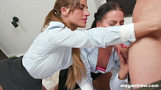 StepDaddy Punishes Sisters for Smoking