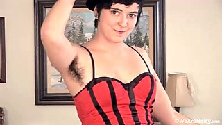 Lena Lake strips naked in stockings by the tree - Compilation - WeAreHairy