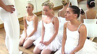 Zealous Czech ballerina has nothing against steamy MFFF 4some