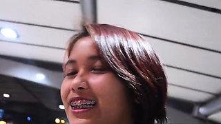 Cute asian teen street hooker picked up