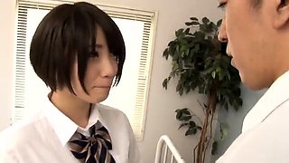 Sweet Japanese schoolgirls get their tight cunts rammed hard