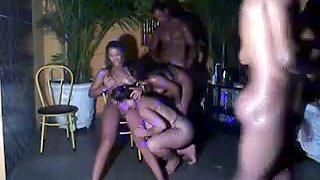 Party orgy gangbang