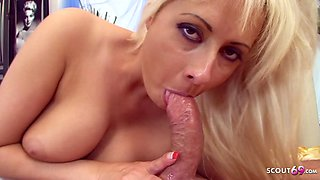 Hairy Pussy Mom love Rough Sex with Friend of her Son