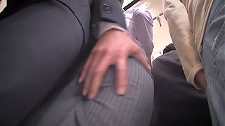 Exotic Japanese girl in Amazing Cougar, Public JAV clip