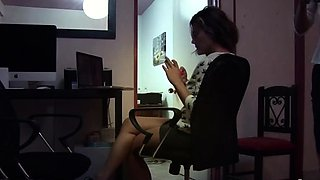 Exquisite barely legal exotic brunette girlfriend blows well