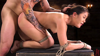 Kendra Spade Tied up and Assfucked Hard