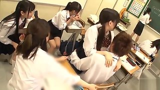 The girls in the class started to seduce me, the school girls were so lust