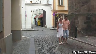 Husband catches his wife fucking with his brother