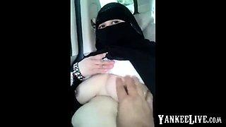Arab housegirl in Car with friend