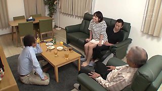 Nhdtb-213 - A Niece Fucks Her Uncle's Lap Even When Her Family Is Around