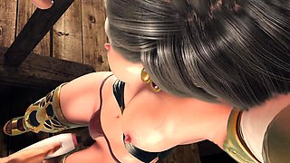 Helpless 3D beauty with big boobs enjoys an intense drilling