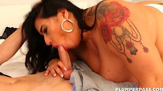 Busty Latina MILF (Busty 38K Latina BBW Short Tight White Skirt HERricane Hottie) 1080p