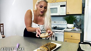 MODEL TIME - MILF Gives POV Blowie & Swallows in the Kitchen