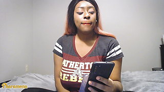 College Student gets her Webcam Hacked and Masturbates