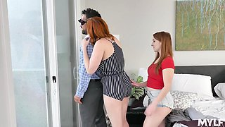 Sensual MFF threesome with such a horny cock hungry Cleo Clementine