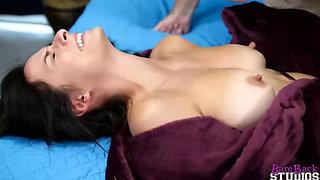 Brunette slut gets fucked by her dad