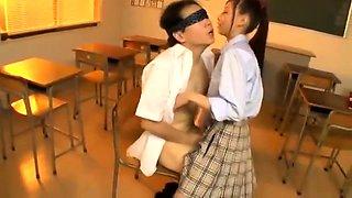 Thai schoolgirl fucking in classy uniform