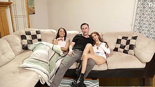Tiny teen fucked by her sisters BF