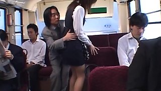 School Girl Takes The Horny Bus