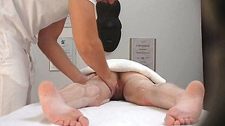 Extreme Passionate Redhead Seduced in Massage Room