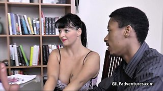 Mature Doctor Lacey helps with facial