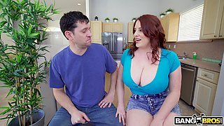Ginger milf with giant tits Maggie Green gets her cunt nailed