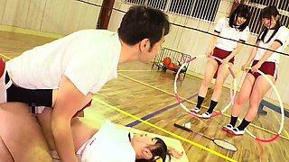 Cute Jav Idol Teens Bibi Yuna Ayu Fucked In The Gym