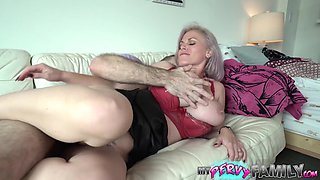 Sexy Blonde Busty Milf Uses Step Son For Sexual Release - MyPervyFamily
