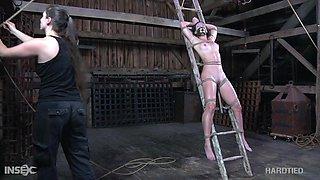 Perverted gagged bondage whore Wenona deserves nothing but hard treatment