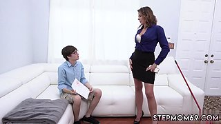 Mom under table and milf humping kitchen Fucking The Steppatrons son As Punishment