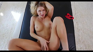 Hot blonde at casting