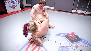 Tori avano naked wrestling right with face fucking oral