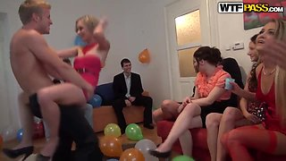 Really awesome teen orgy during a birthday party