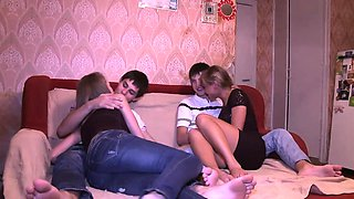 18 Videoz - Swinger sex warming up teens' cocks and pussies