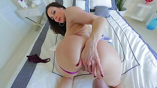 Big booty looks good in thongs as Kendra Lust teases you