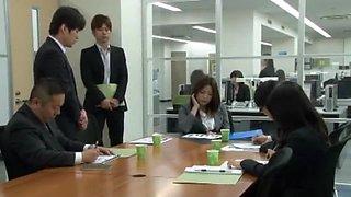 Exotic Japanese chick Natsume Inagawa, Miwako Yamamoto, Aoki Misora in Crazy Secretary, Office JAV movie