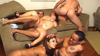 Super Freak Brazilian Orgy with Little People