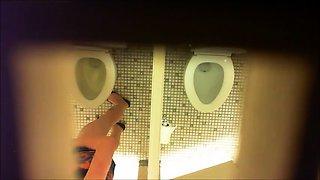 Hidden cam voyeur spying on amateur ladies in the toilet