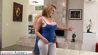 Naughty America Sara Jay fucks her personal trainer
